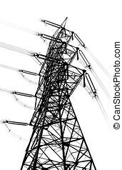 Tall High Voltage Power Mast