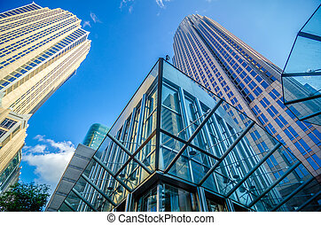 tall highrise buildings in uptown charlotte near blumenthal...
