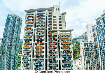 Tall Highrise Housing in Hong Kong