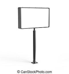 Tall light box mockup, 3d rendering billboard template for ...