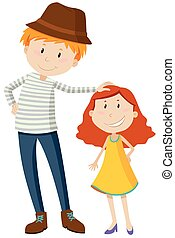 Tall / short girl drawings - Search Clipart, Illustration ...