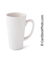 Tall mug - Tall blank mug isolated on white background