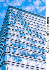 Tall office building with windows