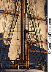 Tall Ship in San Diego Harbor, California