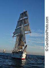 Tall Ship - Tall ship at sea