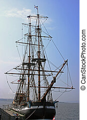Tall Ship - Tall ship in Nova Scotia, Canada.