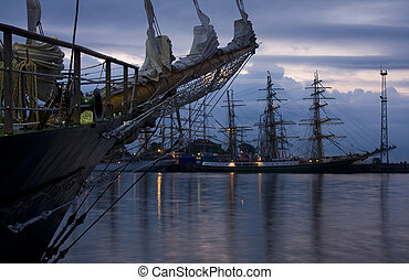 Tall Ships in Gdynia Harbour