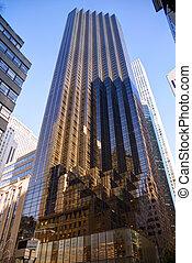 Tall skyscraper in New York city