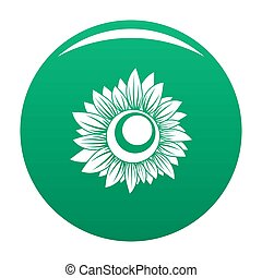 Tall sunflower icon green