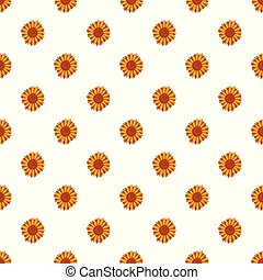 Tall sunflower pattern seamless vector