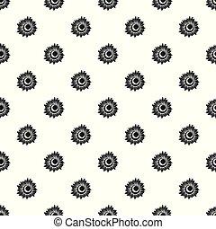 Tall sunflower pattern seamless vector