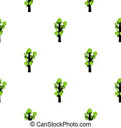 Tall tree pattern flat