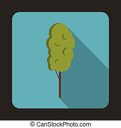 Tall wood icon, flat style