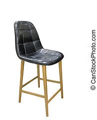 Tall wooden leg stool.