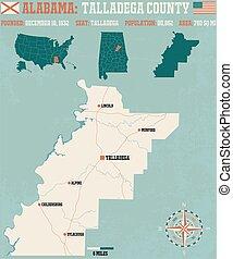 Talladega County in Alabama USA