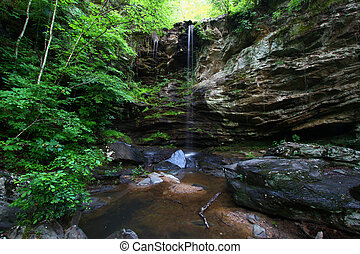 Talladega National Forest - Alabama - A waterfall flows...