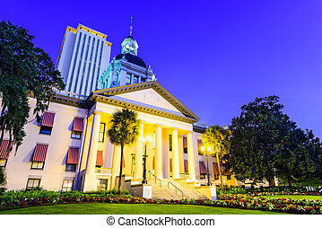 Tallahassee State House - Tallahassee, Florida, USA at the ...