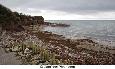 Talland Bay beach Cornwall pan - Talland Bay beach Cornwall...