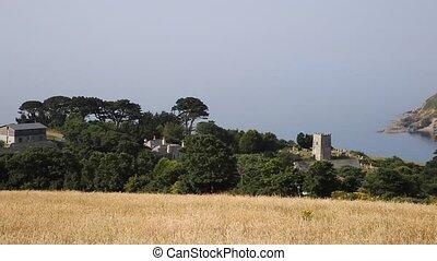 Talland Bay village Cornwall UK