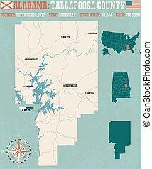 Tallapoosa County in Alabama USA