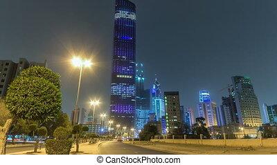 Tallest building in Kuwait City timelapse hyperlapse - the...