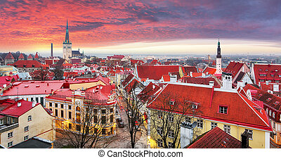 tallin, cidade velha, estonia.