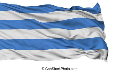 Tallin City Isolated Waving Flag