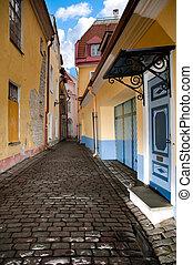 tallin, rua, antigas