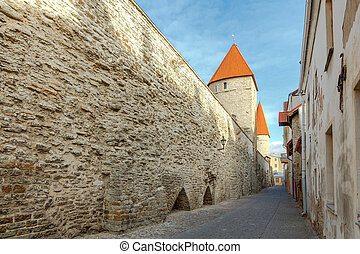 tallinn., antigas, city., estonia.