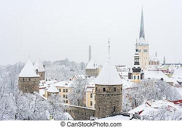 tallinn, antigas, estónia, town.