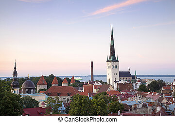 Tallinn - Capital City of Estonia - Panoramic View of...