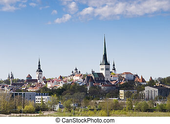 Tallinn cityscape in a sunny day