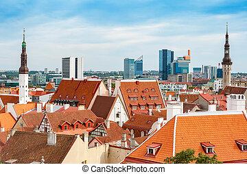 tallinn, estónia, cityscape.