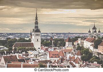 tallinn, estland, an, der, altes , city.