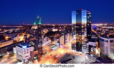 Tallinn Estonia Financial District - Tallinn, Estonia...
