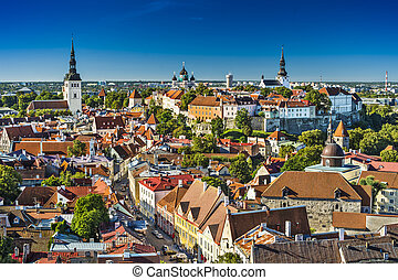 Tallinn, Estonia old city view.