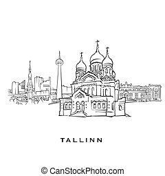 tallinn, estonia, sławny, architektura