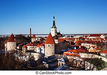 Tallinn, Estonia - View of Tallinn (old town) panoramic...