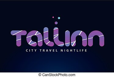 tallinn european capital word text typography design