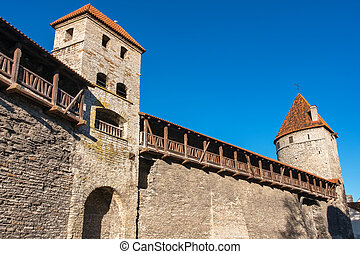 tallinn, medieval, estónia, wall.