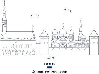 tallinn, miasto skyline, estonia