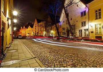Tallinn. Old medieval street.