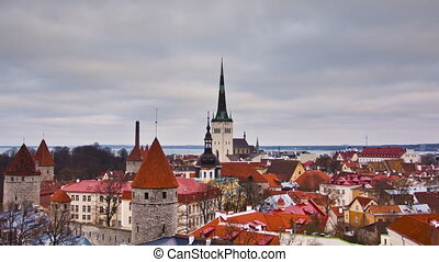 Tallinn Old Town, Estonia - View of the old town. Tallinn,...
