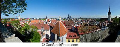 Tallinn Panorama - 180 degree panoramic view of Tallinn,...