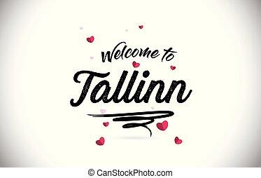tallinn, pożądany, do, słowo, tekst, z, handwritten,...