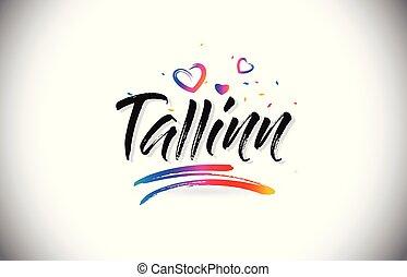 tallinn, pożądany, do, słowo, tekst, z, miłość cerca, i,...