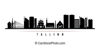 Tallinn skyline horizontal banner.
