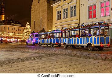 Tallinn. Train Santa Claus.