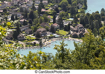 Talloires village at Annecy lake, France