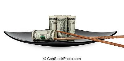 tallrik, hundra, lagförslaget, dollar